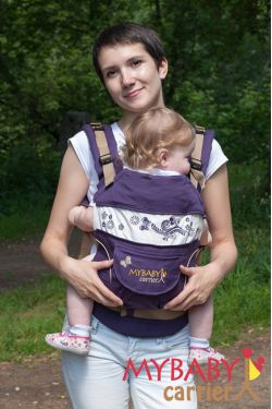 Эрго-рюкзак My Baby Stile, фиолетовый, бабочка