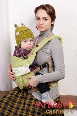 Эрго-рюкзак My Baby Stile, салатовый, бабочка