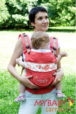 Эрго-рюкзак My Baby Stile, коралловый, бабочка