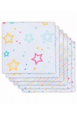 Комплект муслиновых пеленок для новорожденных Jollein,Star dust, Звездная пыль