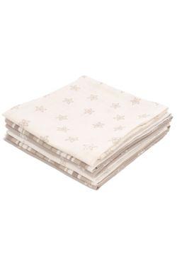 Комплект муслиновых пеленок для новорожденных Jollein Starfish sand