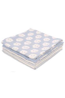 Комплект муслиновых пеленок для новорожденных Jollein, Owl blue