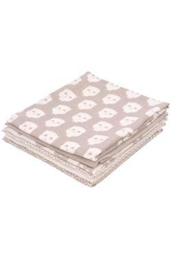 Комплект муслиновых пеленок для новорожденных Jollei, Owl grey