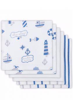 Комплект муслиновых пеленок для новорожденных Jollein, Boys at sea (Мальчики на море)