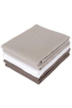 Комплект муслиновых пеленок для новорожденных Jollein, grey/anthracite/white