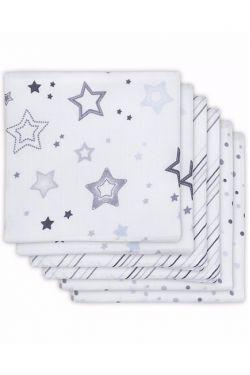Комплект муслиновых пеленок для новорожденных Jollein, Stardust grey, Звездная пыль