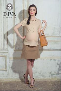 Футболка для кормления Diva Nursingwear Polo, цвет Grano