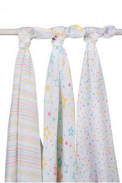 Комплект муслиновых пеленок для новорожденных Jollein, Stardust (звездная пыль)