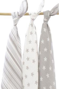 Комплект муслиновых пеленок для новорожденных Jollein, Starfish grey