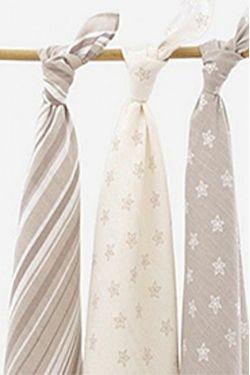 Комплект муслиновых пеленок для новорожденных Jollein, Starfish sand