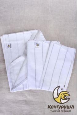 Комплект непромакашка (наматрасник + 2 пеленки), silver line