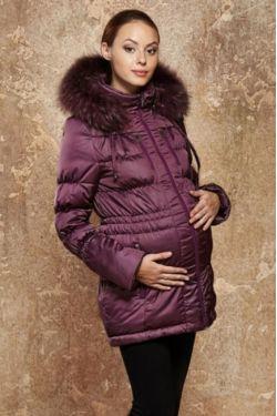 Зимняя куртка для беременных Генуя сиреневая