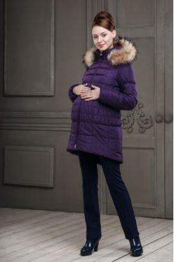 Зимняя куртка для беременных Бони фиолетовая