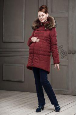 Зимняя куртка для беременных Бони, цвет винный