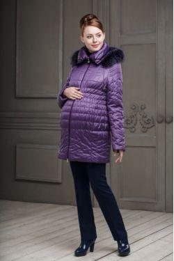 Зимняя куртка для беременных Вивиан фиолетовая