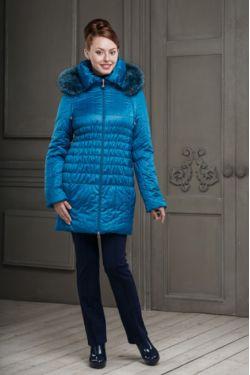 Зимняя куртка для беременных Вивиан морской синий