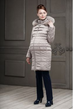 Зимнее пальто для беременных Одри светло-бежевое