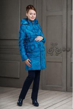 Зимнее пальто для беременных Вирджиния синее