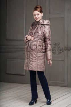 Зимнее пальто для беременных Вирджиния бежевое