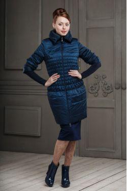 пальто для беременных Валери синее