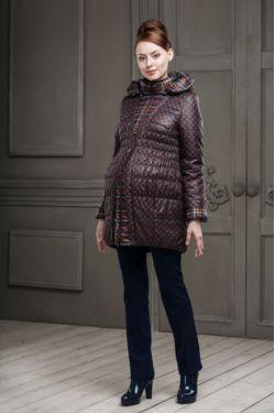 Демисезонное пальто для беременных Шарлотта терракотовое