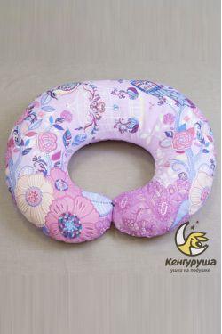"""Наволочка на подушку для кормления Кенгуруша """"Райские птицы"""""""