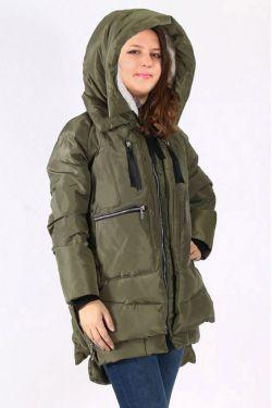 Женская куртка парка для беременных хаки