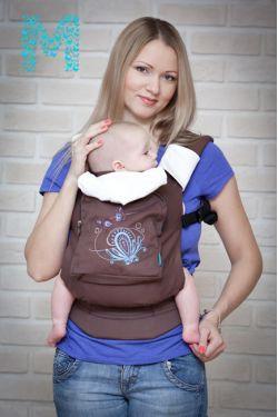 """Эрго-рюкзак MODAMAM """"Шоколадная фантазия"""""""