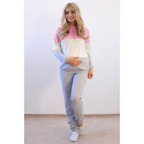 Спортивный костюм для беременных с розовым