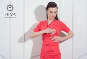 Платье для беременных Diva Nursingwear Lucia, Corallo