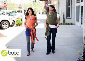 Трикотажный слинг шарф Boba Wrap расцветка Orange