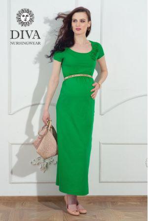 Платье для беременных и кормящих Diva Nursingwear Dalia, цвет Aloe