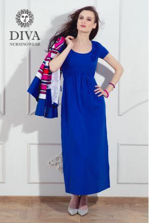 Платье для беременных и кормящих Diva Nursingwear Dalia,  цвет Azzurro