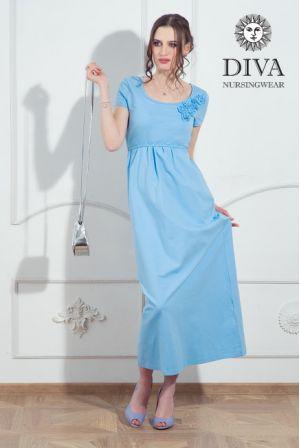 Платье для беременных и кормящих Diva Nursingwear Dalia,  цвет Celeste