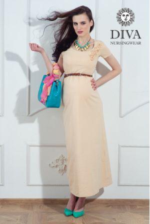 Платье для кормящих Diva Nursingwear Dalia, цвет Grano