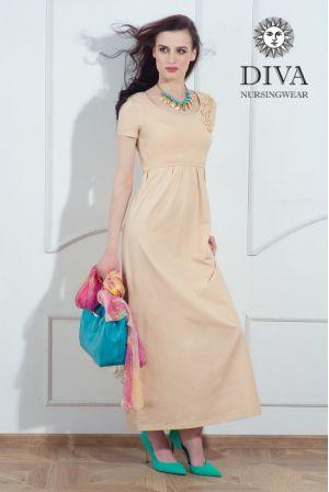 Платье для беременных и кормящих Diva Nursingwear Dalia, цвет Grano