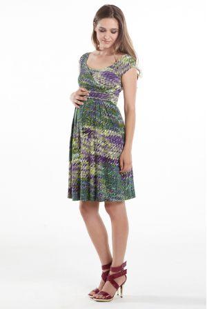 """Платье для беременных и кормящих Mothers en Vogue """"Lola Mae"""", принт """"Impasto Forest"""""""