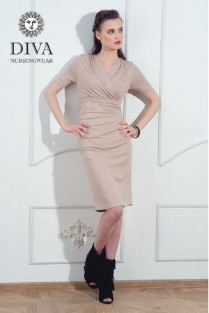Платье для беременных и кормящих Diva Nursingwear Lucia, цвет Grano