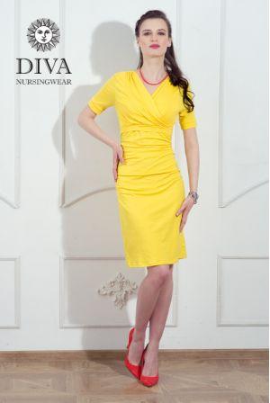 Платье для беременных и кормящих Diva Nursingwear Lucia, цвет Limone