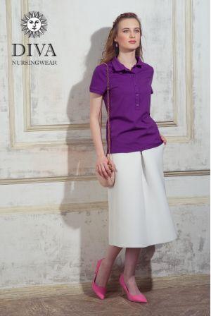 Поло Футболка для кормления  Diva Nursingwear Polo, цвет Viola