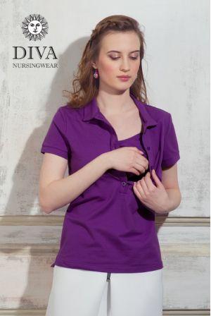 Футболка для кормления  Diva Nursingwear Polo, цвет Viola
