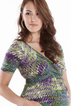 """Платье для беременных Wrap Dress, принт """"Impasto Forest"""""""