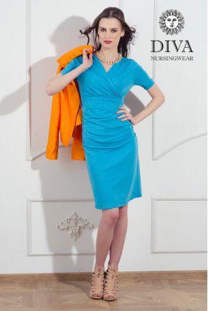 Платье для беременных и кормящих Diva Nursingwear Lucia, цвет Celeste