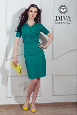 Платье для беременных и кормящих Diva Nursingwear Lucia, цвет Smeraldo