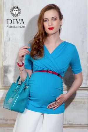 Топ для беременных Diva Nursingwear Lucia, цвет Celeste