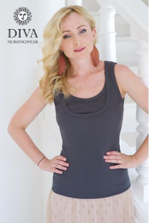 Топ для кормления Diva Nursingwear Eva, цвет Grafite