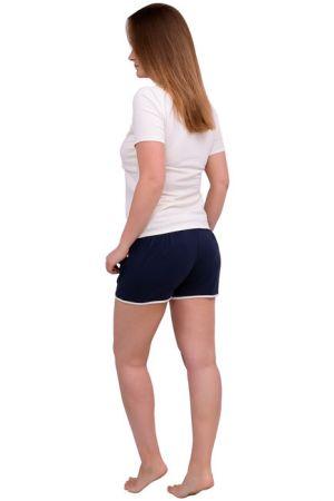 Спортивные шорты для беременных Л051 т.синий, шампань