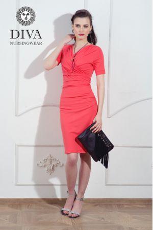 Платье для беременных и кормящих Diva Nursingwear Lucia, цвет Corallo