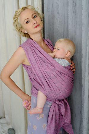 Слинг-шарф Ellevill Paisley Linen Silver-Pink
