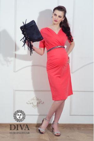 Платье для беременных Diva Nursingwear Lucia, цвет Corallo